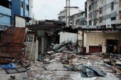 Demolera järnbromarknaden i Bangkok, Thailand På 28 Octob Arkivbilder