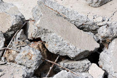 demolerad betong Arkivbilder