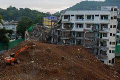 demolerad byggnad Arkivfoto