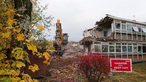 Demolerad byggnadsplats royaltyfria foton