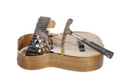 Demolerad gitarr Royaltyfri Fotografi