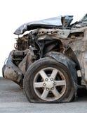 Demolerad rubber bil för plant gummihjul Arkivfoton