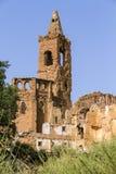 By demolerade Belchite Arkivbilder