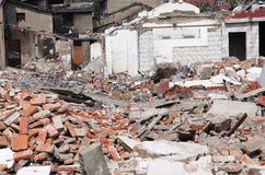 demolerade byggnader Royaltyfri Fotografi