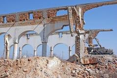 demolerat hotell Royaltyfri Foto