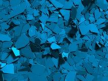 Demolição brilhante azul rachada fundo de superfície quebrado Fotografia de Stock Royalty Free