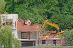 Demolição da casa fotos de stock