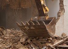 Demolição da casa imagens de stock royalty free