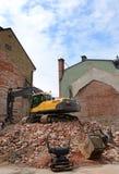 Demolição da casa velha da cidade fotografia de stock royalty free