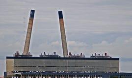 Demolição da central elétrica Foto de Stock Royalty Free