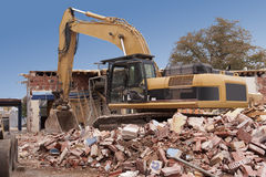 Demolição da construção imagens de stock royalty free