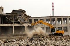 Demolição da construção Fotografia de Stock Royalty Free