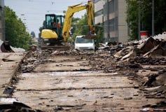 Demolição da máquina escavadora Foto de Stock