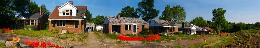 Demolição da vizinhança Fotos de Stock Royalty Free