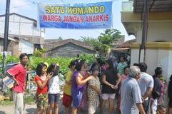 A demolição das casas na terra possuiu a pinta KAI em Semarang Fotos de Stock Royalty Free