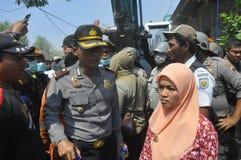 A demolição das casas na terra possuiu a pinta KAI em Semarang Foto de Stock Royalty Free