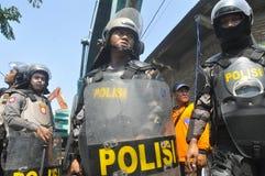 A demolição das casas na terra possuiu a pinta KAI em Semarang Imagens de Stock Royalty Free