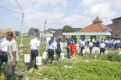 A demolição das casas na terra possuiu a pinta KAI em Semarang Imagem de Stock