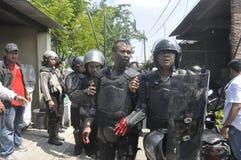 A demolição das casas na terra possuiu a pinta KAI em Semarang Fotografia de Stock Royalty Free
