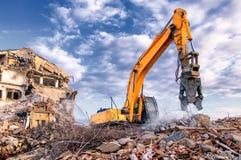 Demolição das construções em urbano Foto de Stock