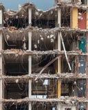 Demolição de uma elevação alta Bulding Imagem de Stock Royalty Free