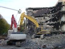 Demolição do edifício foto de stock