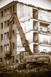 Demolição do edifício velho Fotografia de Stock Royalty Free