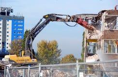 Demolición 1 de la escuela Imagen de archivo libre de regalías