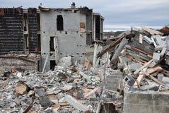 Demolición controlada Foto de archivo