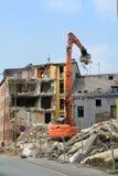 Demolición de casas Imágenes de archivo libres de regalías