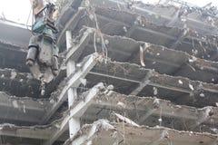 Demolición de edificios imágenes de archivo libres de regalías