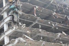 Demolición de edificios imagenes de archivo
