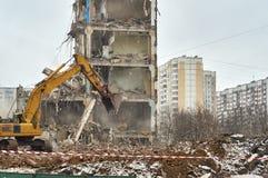Demolición de la casa Imagen de archivo