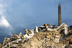 Demolición de la fábrica foto de archivo