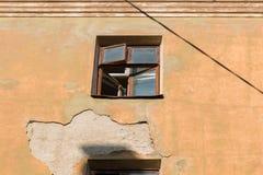 Demolición de un edificio de apartamentos imagen de archivo