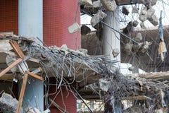 Demolición de un edificio concreto Foto de archivo libre de regalías
