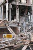 Demolición del edificio Foto de archivo libre de regalías