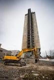 Demolición del edificio de 25 pisos Fotografía de archivo libre de regalías