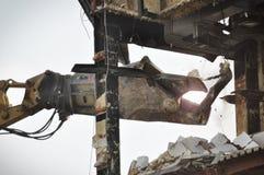 Demolición y el desmontar Imágenes de archivo libres de regalías