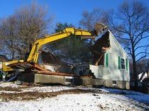 Demolición de la casa Foto de archivo libre de regalías