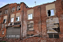 Demoliertes Gebäude Stockbild