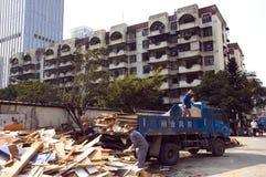 Demolierung in der chinesischen Stadt Lizenzfreie Stockfotos