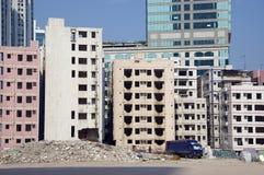 Demolierung in der chinesischen Stadt Stockfotos
