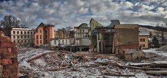 Demolierung der Fabrik Stockbild