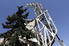 """Demolierung der Jahre des Monuments """"1300 von Bulgariaâ€- nahe durch NDK in Sofia, Bulgarien †""""am 4. Juli 2017 Kommunistisch stockfotografie"""