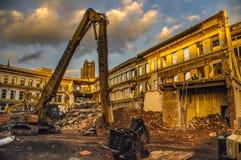 Demolierung in der Stadt von Gent lizenzfreie stockbilder