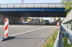 Demolierung der Straßenbrücke Lizenzfreie Stockfotografie