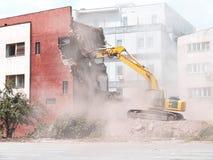 Demolierung des alten Gebäudes Stockbild