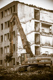 Demolierung des alten Gebäudes Lizenzfreie Stockfotografie
