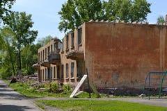 Demolierung des alten Hauses Lizenzfreie Stockfotografie